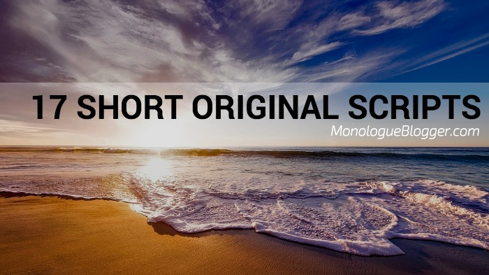 17 Short Original Actor Play Scripts