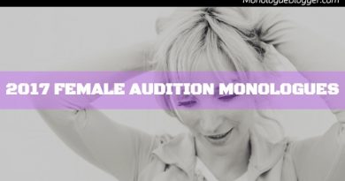 Audition Monologues for 2017 – Female