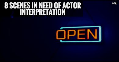 8 Scenes in Need of Actor Interpretation